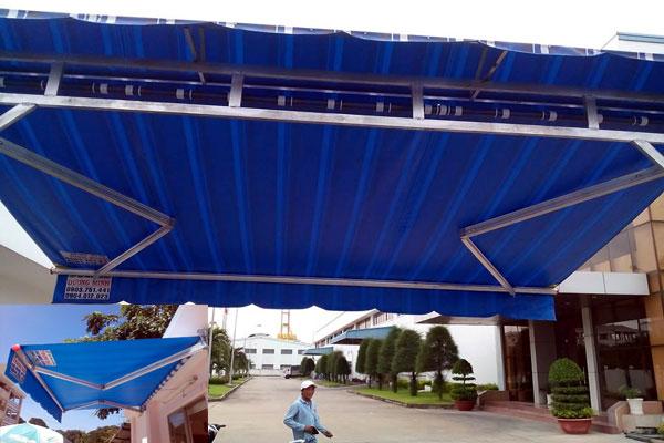 Lắp đặt mái che mái xếp di động đẹp giá rẻ tại Tp HCM